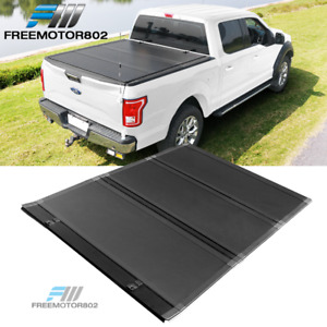 Fits 15 21 Ford F150 5 6ft Bed Low Profile Hard Tri Fold Style Tonneau Cover