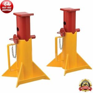 Pair Of Forklift Jack Stands Heavy Duty Car Truck Auto 26000 Lb Capacity Repairs