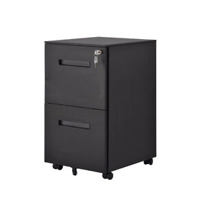 Steel Filing Cabinet Mobile File Cabinet W lock 2 Drawers Legel letter a4 Size