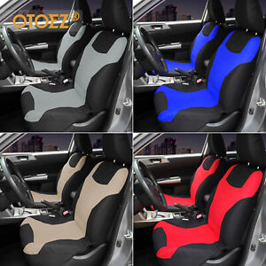 Car Seat Cover Universal 100 Breathable For 2 Front Sedan Truck Suv Van Black