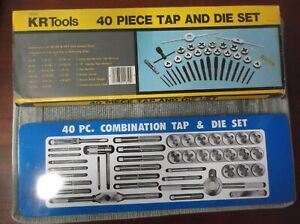 Kr Tools 40 Piece Tap And Die Set Hand Tools Nos