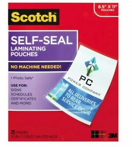 2 Scotch 3m Self Laminating Document Protector Sheets 8 1 2 X 11