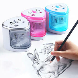 Electric Automatic Pencil Sharpener Battery Operated School Office Stationery