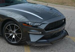For 18 20 Ford Mustang Carbon Look Gt style Front Bumper Body Kit Splitter Lip