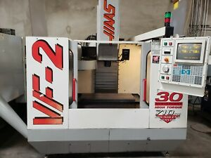 Haas Vf 2 Mfg 1998 Pcool Auger 4th Ready Powered Up