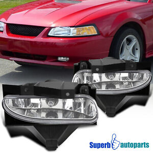 For 1999 2004 Ford Mustang Fog Lights Driving Bumper Lamps Gt V6 W Switch