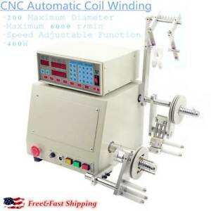 400w New Cnc Automatic Coil Winding Machine Micro computer Controlled Winder Usa