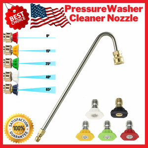 Pressure Washer Gutter Cleaner Attachment Extension Wand Angled With Nozzle Tips
