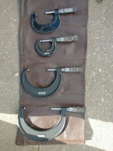 3 Micrometer Set Central Tool Co