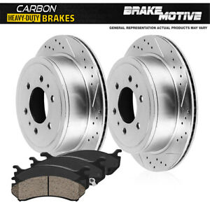 For 2015 2016 Chevy Colorado Canyon Rear Brake Rotors Carbon Ceramic Pads