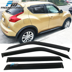 Fits 11 16 Nissan Juke Slim Style Window Visors Rain Sun Guard Acrylic 4pc Set