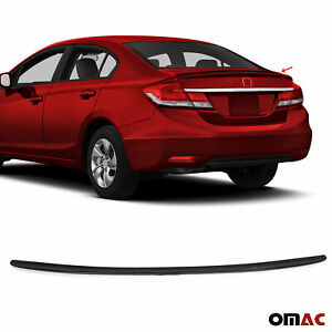 For Honda Civic Sedan 2011 2016 Rear Trunk Lip Wing Spoiler Black Style
