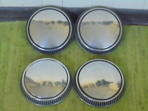 71 72 73 74 75 76 77 78 79 Ford Mercury Dog Dish Hub Caps 9 1 2 Set Of 4
