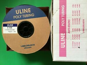 S 1536 Uline Anti static Poly Tubing Roll 4 Mil 6 X 500