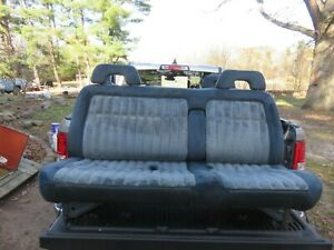 88 94 Chevy Gmc Silverado 1500 Sierra Truck Bench Seat W Arm Rest Blue Read