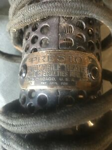 Presto Antique Automobile Eng Heater Used 1920s Vintage Auto Rare Engine Accs