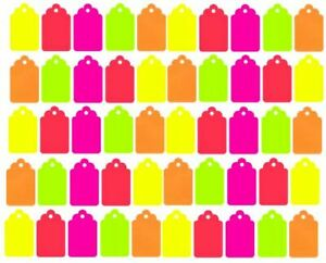 100 Blank Merchandise Price Tags Retail Coupon Label 1 1 4 X 3 4 Colors 5