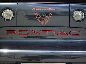 Pontiac Trans Am Firebird Rear Lettering Kit Other Colors Available