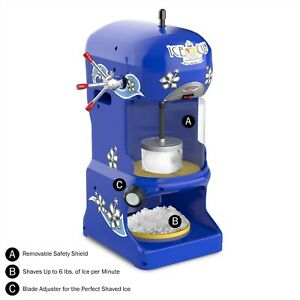 Great Northern Popcorn Commercial Shaved Ice Machine Ice Shaver Snow Cone Maker