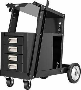 Vivohome Iron Rolling Welding Cart W 4 Drawers Wheels Tank Storage For Welder