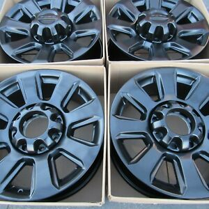 20 Ford F 250 F 350 Factory Oem Rims Wheels Black Matte Satin 10102 F250 F 250