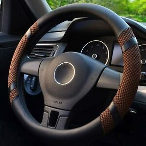 Steering Wheel Cover Microfiber Leather Viscose Warm In Winter Cool In Summer