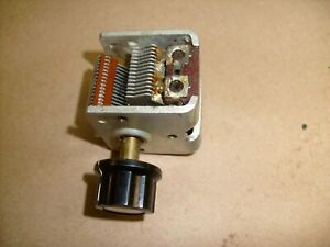 Single Section Air Variable Tuning Capacitor From Ham Crystal Radio Estate