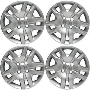 New 16 Silver Hubcaps Wheel Rim Covers Fits 2007 2012 Nissan Sentra Set Of 4