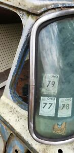 1961 1966 Ford Truck Windshield Stainless Trim Moldings W Clips Original Set