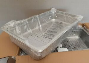 6 Carlisle 6007004p Full Size 4 Perforated Stainless Steam Table Catering Pan