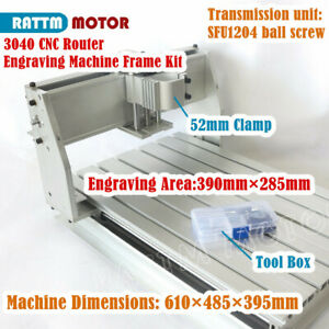 3 Axis 3040 Desktop Cnc Milling Engraving Router Machine Frame Kit W 52mm Clamp