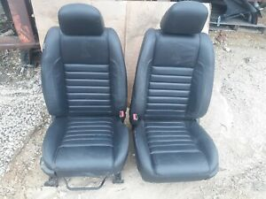 09 Ford Mustang Gt500 Black Leather Front Seats