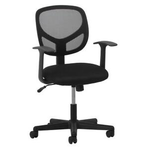 Desk Office Chair Black Swivel Mesh Adjustable W Arms Modern Contemporary