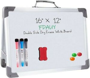 Magnetic Dry Erase White Board 16 X 12 Portable Foldable Magnetic Double sided