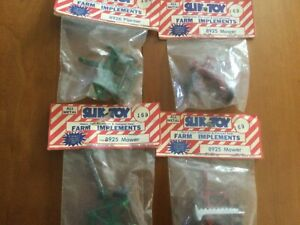 Vintage Slik Toy Farm Implements Lot Of 4 All New Estate Find Loo