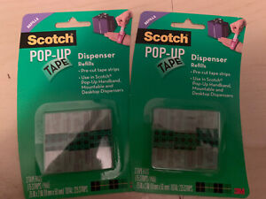 3m Scotch Pop up Tape Refills 3 4 X 2 Inches 75 Strips pad 3 Pads Each 2 Packs