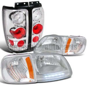 For 1997 2002 Ford Expedition Headlight corner Lamps tail Brake Lights