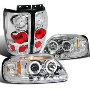 For 1997 2002 Ford Expedition Led Halo Projector Headlights tail Lamps
