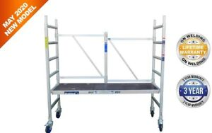 Scaffold Tower Rolling Tower Aluminum 9 8 Working Height 997 Lbs Load