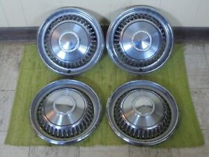 1968 Chevrolet Hub Caps 14 Set Of 4 Wheel Covers Chevy 68 Hubcaps