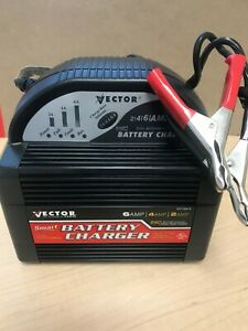Vector 6 Amp 12 Volt Fully Automatic Electronic Battery Charger Vec1086b