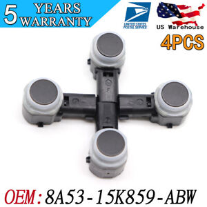4x Pdc Reverse Bumper Object Backup Car Parking Aid Sensor For Ford 8a5315k859ab