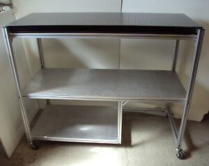 Crated 2 x5 Newport Optical Breadboard Table Roll around T slot Bench Shelves
