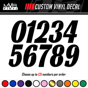 Racing Numbers Vinyl Decal Sticker Dirt Bike Plate Number Bmx Competition 0834