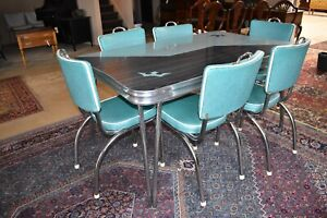 Mid Century Chrome Dining Set 1950 S Table Chairs