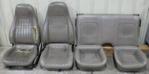 1993 2002 Chevrolet Camaro Ss Z28 Tan Leather Seat Set Used Oem Gm Cores