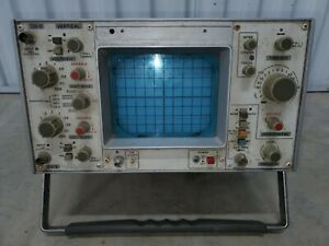 Vintage Leader Dual Trace Oscilloscope Powers On For Parts