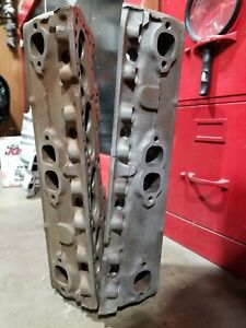 Chevy 3917291 Cylinder Heads Camel Hump Sbc Fuelie Hardened Seats Pocket Ported