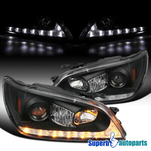 For 2001 2005 Lexus Is300 Black Projector Headlights W Led Signal Strip