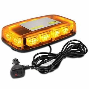 Aurelio Tech Amber Yellow Strobe Light For Trucks With Magnetic Base 36 Led